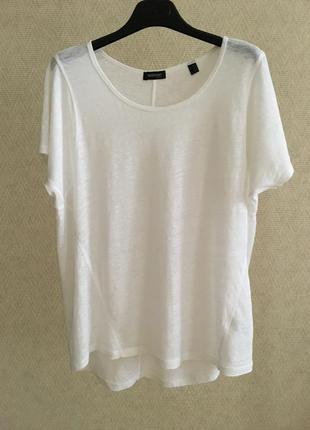 Белая льняная футболка 100% лён