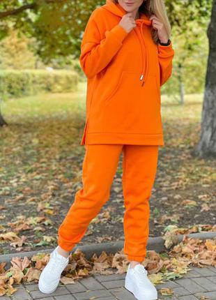 Тёплый костюм, трёхнить на флисе. размеры: 42-52!!