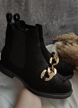 Ботинки чорні стильні