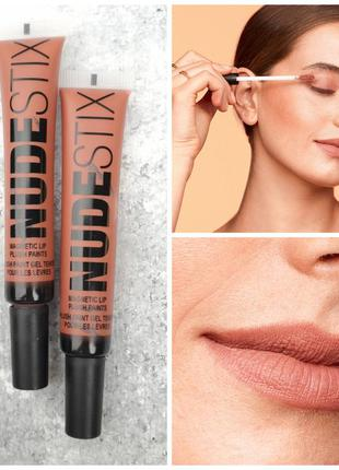 Многофункциональный тинт для губ, щек и глаз nudestix magnetic plush paint - lip, cheek & eye color bahama mama