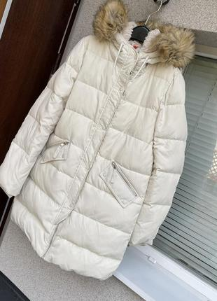 Зимняя куртка пуховик bershka пальто