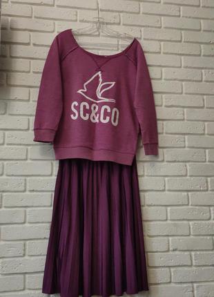Комплект юбка-плиссе и батник