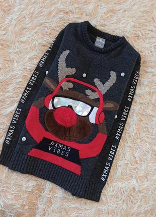 Новогодний свитер новорічний светр