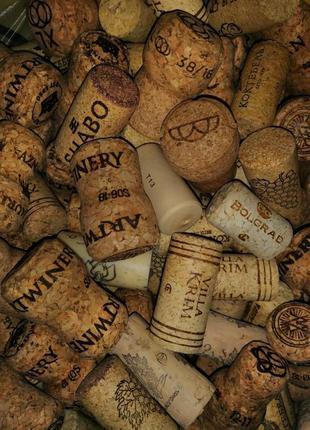 Пробки от вина, шампанского, винные, для декора пробка, корок, корки