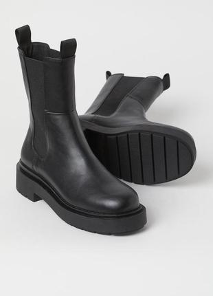 Высокие ботинки челси h&m