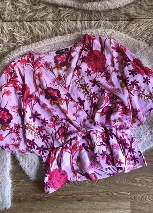 Блуза в цветочный принт (3xl)18р