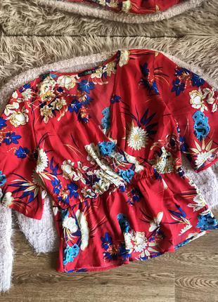 Блуза в цветочный принт (18р)3xl