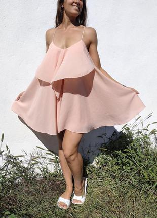 Мега шикарное розовое платье nly trend англия