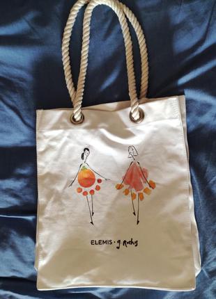 Стильная сумка-шопер elemis, оригинал!!!