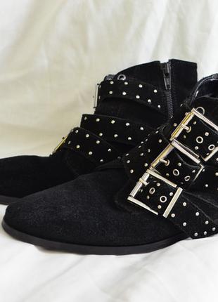 5261\0 демисезонные замшевые ботинки topshop 39р