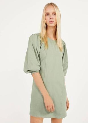Новое крутое платье свитшот с актуальным объемным рукавом bershka💥
