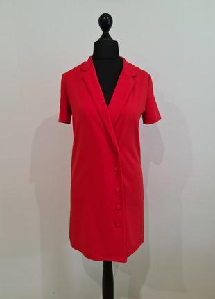 Красное платье пиджак zara