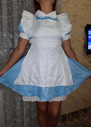 Платье алиса в стране чудес