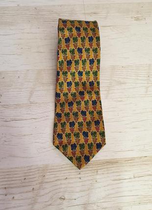 Оригинальный винтажный  шелковый галстук краватка burberry