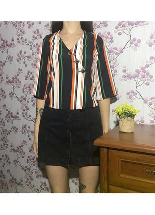 Блуза в полоску с завязками 6 34 xs eur42