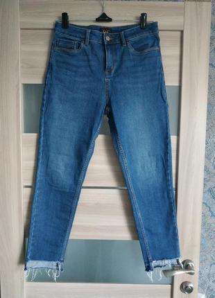 Высокие базовые прямые джинсы