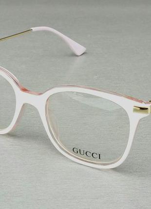 Gucci очки женские имиджевые оправа для очков белая с розовым