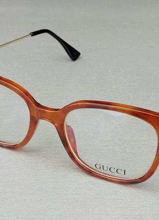 Gucci очки женские имиджевые оправа для очков коричневая