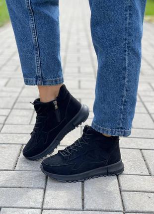 Хайтопы демисезонные ботинки а плюше