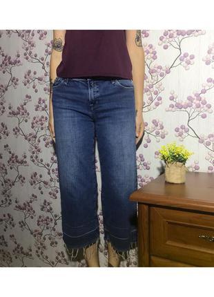 Джинсовые кюлоты джинсы широкие короткие штаны синие replay 29/m