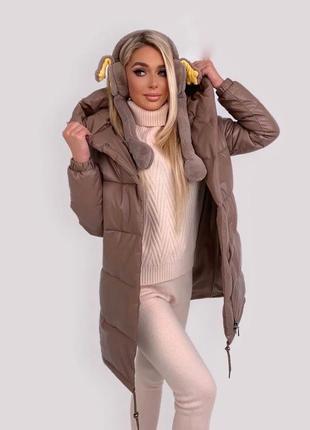Куртка женская зефирка кожаная 📌📌📌