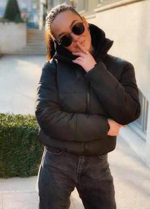 Теплая осенняя женская куртка