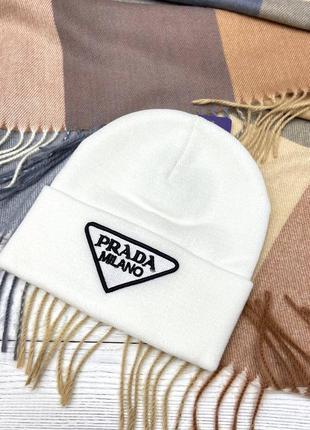 Женская шапка в стиле prada 🤍