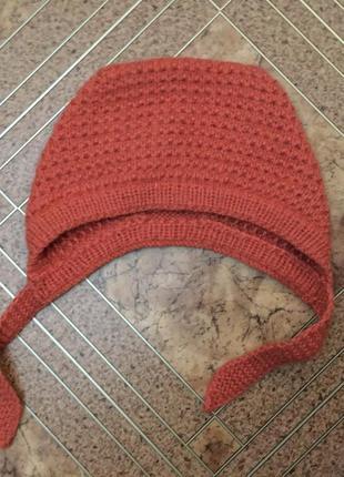 Шапка шапочка шерстяная вязаная 24 мес