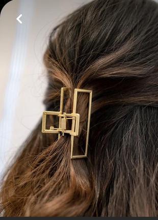 Крабик для волосся металевий (золотий)