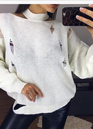 Рваний свитерок