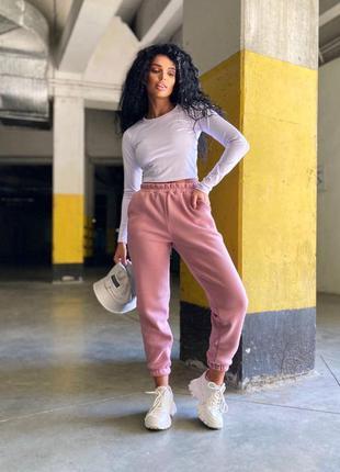 Розовые штаны, джоггеры, спортивные штаны , штаны с манжетом