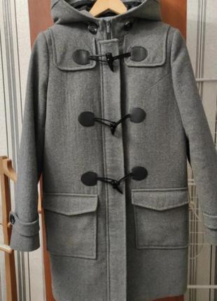 Серое кашемировое пальто осеннее 44 размер
