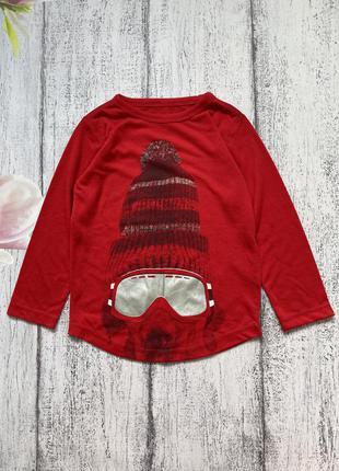 Крутая кофта реглан свитшот новогодний свитер gap 4-5лет