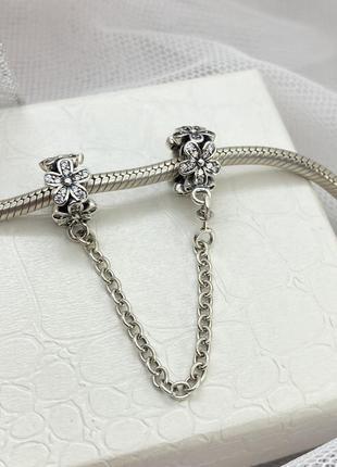Захисний ланцюжок для браслета, срібло 925 проби