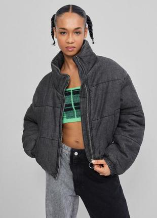Тёплая котоновая куртка bershka