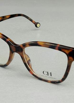 Carolina herrera очки женские имиджевые оправа для очков коричнево бежевая тигровая
