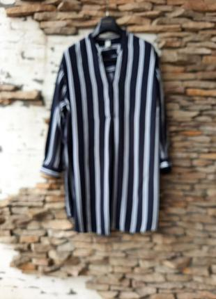 Удлинённая вискозная рубашка 👕, туника большого размера