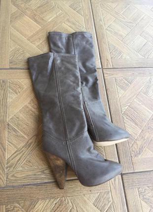 Осенние сапоги ботинки ботильоны на устойчивом каблуке 💐