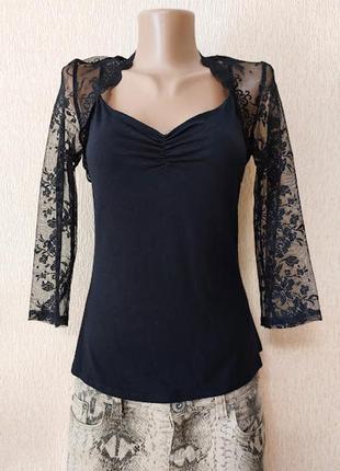 Красивая черная женская трикотажная кофта, джемпер marks&spencer