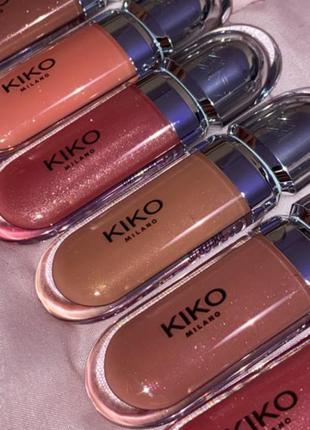 Блеск для губ kiko milano 3d hydra lipgloss