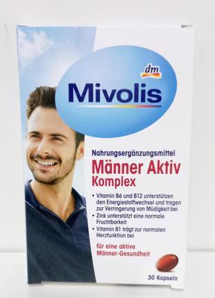 Mivolis витамины для мужчин витамины b1, b6, b12 витамин c, селен  цинк