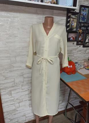 Классное платье-халат с поясом!!!