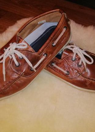 Женские кожаные демисезонные ботинки, мокасины 41 р.