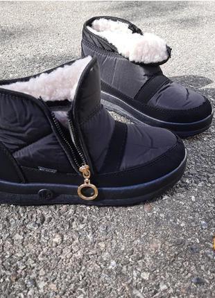 Женские зимние дутики, ботинки, сапоги, на широкую ногу, сапожки, жіночі дутіки, чорные, чорні, мех, размер 38, 39, 40, 41, 42