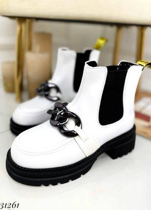 31261 ботинки челси демисезонные на байке