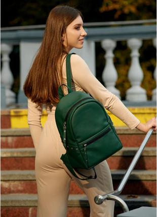 Женский стильный рюкзак зеленый мята хаки