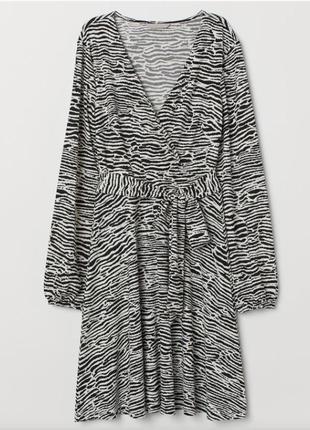 Платье с воздушным рукавчиком hm
