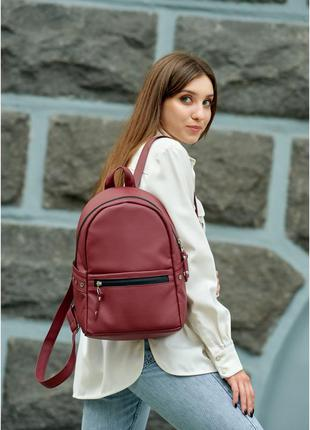 Женский рюкзак бордо