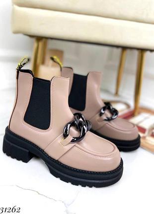 31262 ботинки челси демисезонные на байке