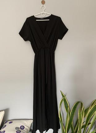 Платье макси из фактурного шифона
